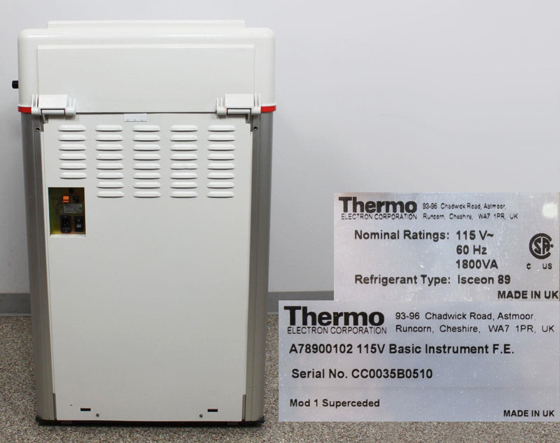 Thermo Shandon Cryotome FE Cryostat rear panel