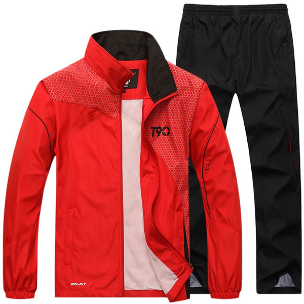 "Set of Jacket + Sweatpant ""Move regardless the weather"""