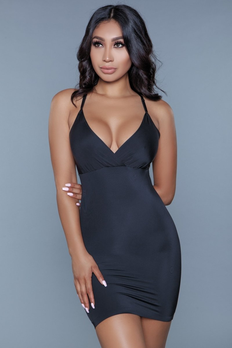 Curved Craze Shapewear Dress - Black