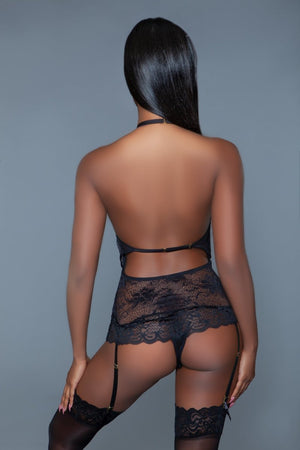 Ophelia Lace Bodysuit - Black