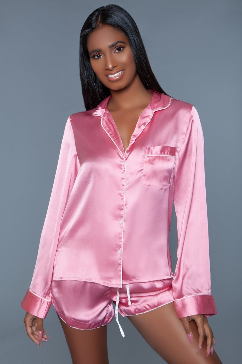 Sadie Satin Pajama Set