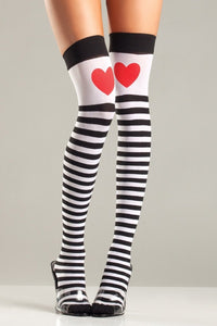 Queen Of Hearts Thigh Highs