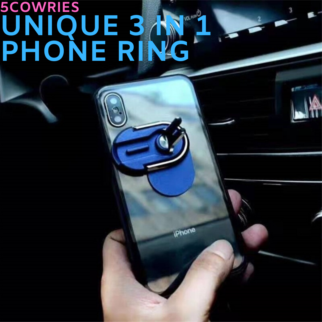 3 in 1 Multipurpose Phone Ring Holder And Mount