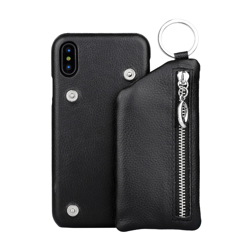 Stoke Leather Phone Case With Detachable Pouch