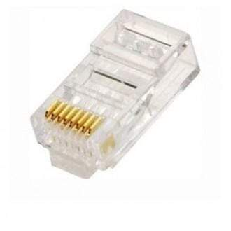 CHT Solutions 8P8C RJ-45 Network Connector Plug - Pack of 100 RJ45 & RJ12 Connectors & Plugs