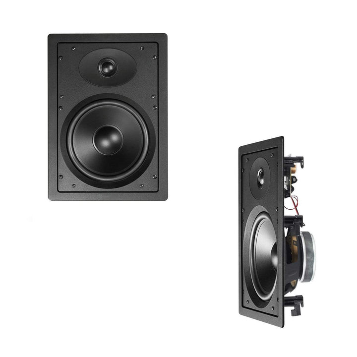 "Encel Encel 8"" In-Wall Speakers Pair - Perfect for Home Theatre or Music - 125W In-Wall Speakers"