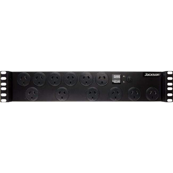"Jackson 19"" Rack Mount 12-Way Power Board with Surge Protection"