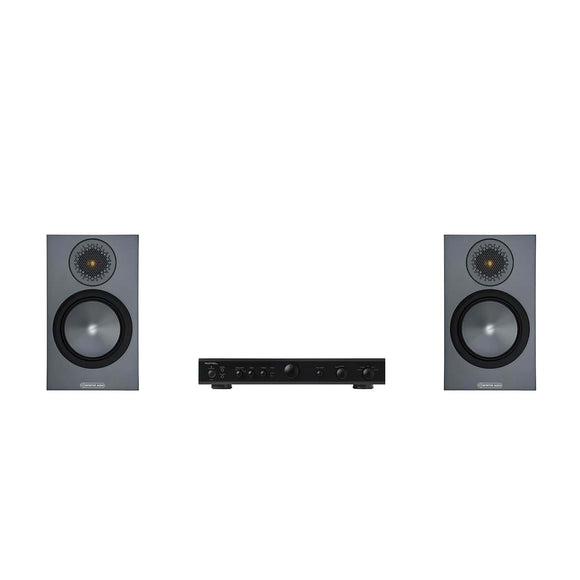 Monitor Audio Bronze 50 Speakers and Rotel Amplifier Package