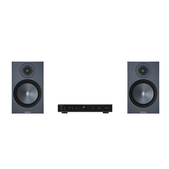 Monitor Audio Bronze 100 Speakers and Rotel Amplifier Package