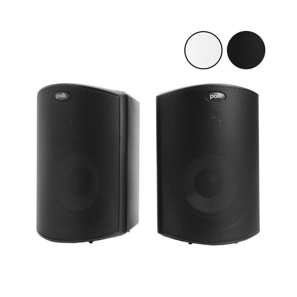 Polk Polk Audio Atrium 5 All Weather Outdoor Speakers Pair - Black Outdoor Speakers