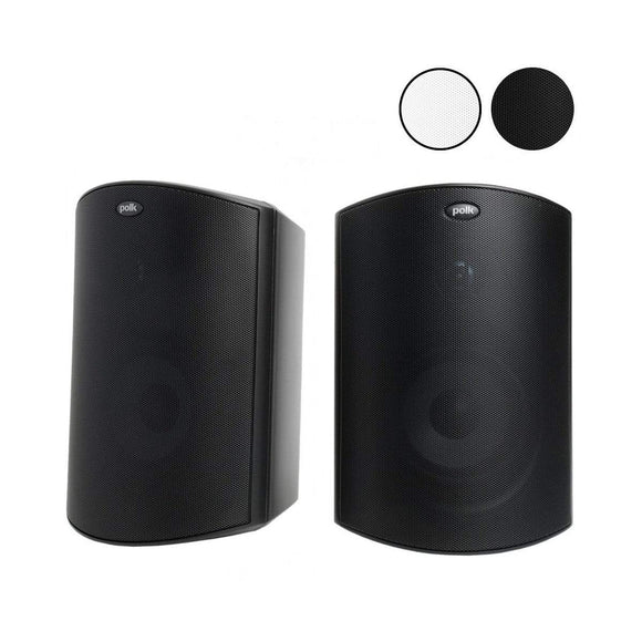 Polk Polk Audio Atrium 6 All Weather Outdoor Speakers Pair - Black Outdoor Speakers