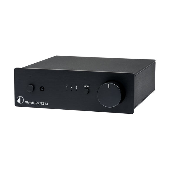 Pro-Ject Pro-Ject Stereo Box S2 BT Integrated Amplifier with Bluetooth - Black Receivers & Amplifiers