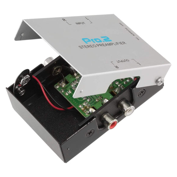 Pro2 PA005 Inline Phono PreAmp For Turntable Uses 9v Battery