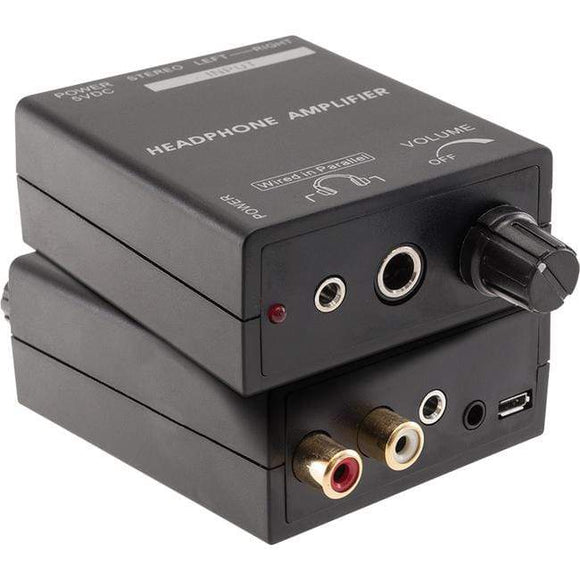 Pro2 Pro2 Headphone Amplifier Booster with Volume Control 3.5mm & RCA Inputs - PRO1343 Receivers & Amplifiers