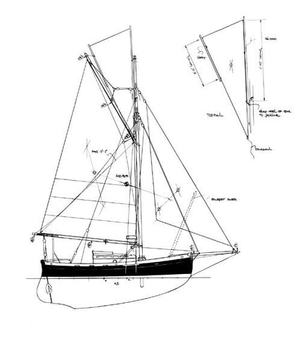 20 ft Itchen Ferry Cutter, Design #101