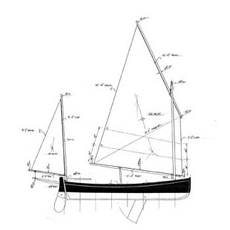 16 ft Centreboard Lugger, Design #124