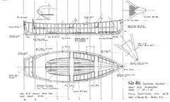 13 ft 6 In Clinker Rowboat, Design #86