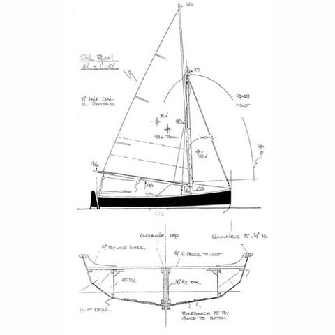 13 ft Centerboard Sailing Dinghy, Design #90