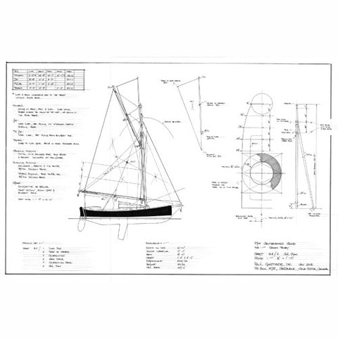 "19 ft Centerboard Sloop ""Spartan II "", Design #164"