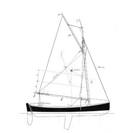 16 ft Double Ended Sloop, Design #165