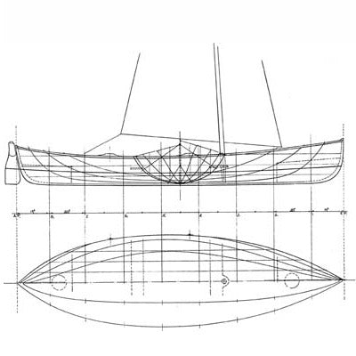 "16 ft Open Water Cruising Skiff ""Bob"", Design #115"