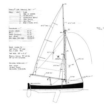 16 ft Sailing Dinghy, Design #128