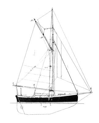 26 ft Gaff Cutter, Design #116