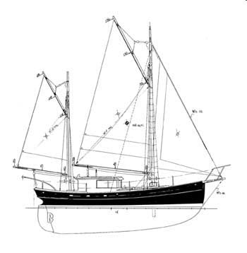37 ft Motor Sailer, Design #108