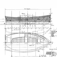 9 and 10 ft Clinker Yacht Tender, Designs #104 and #105