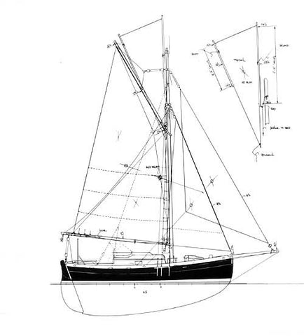 24 ft Gaff Cutter, Design #98