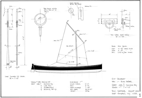 16ft double ended rowing skiff Design #242
