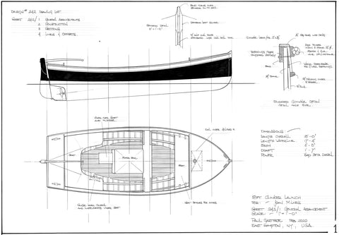 18 ft Clinker Launch, Design #243