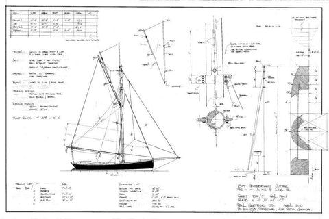 18FT Half-Decked Racing Gaff Cutter, Design #93A