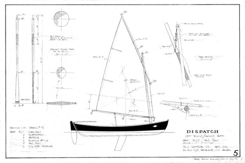 14ft Double Ended Rowing/Sailing Skiff Dispatch,  Design #096