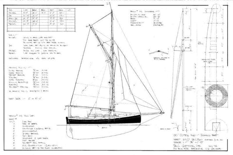 30 Ft Gaff Cutter, Design #109