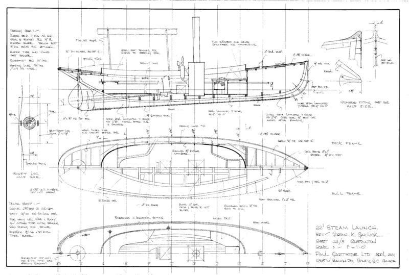 Steam launch boat plans