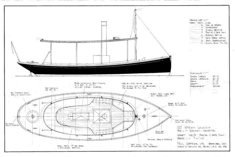 23 ft Steam Launch, Design #125