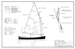 "12 ft Sailing Dinghy ""Riff"", Design #136"