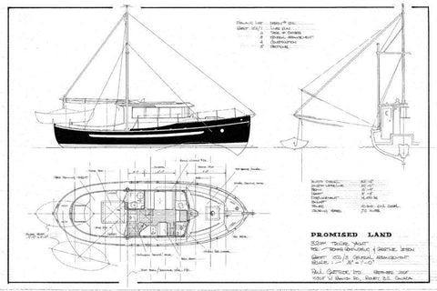 "32 ft Motor Cruiser ""Promised Land"", Design #152"