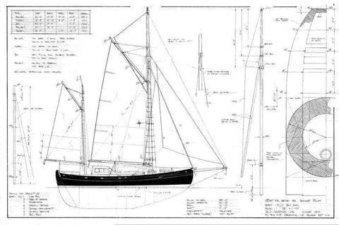 38 ft Double Ended Ketch, Design #173