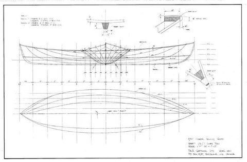 17 ft Coastal Rowboat, Design #179