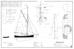 18ft double Ended Cutter HEATHEN, Design #181