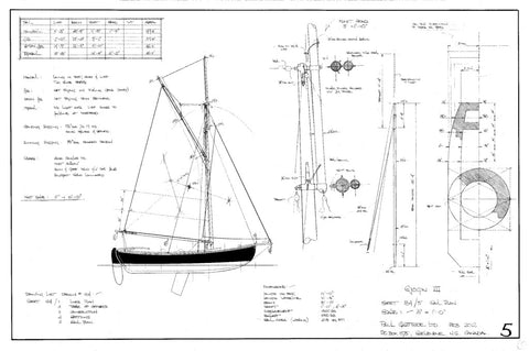 19FT Half Decked, Double-Ended Sloop Sjogin III