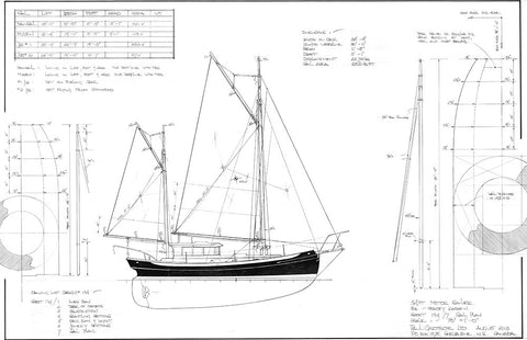 34ft Motor Sailer Design #194