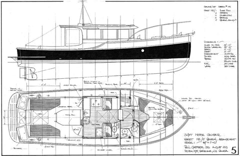 34ft Motor Cruiser, Design #196