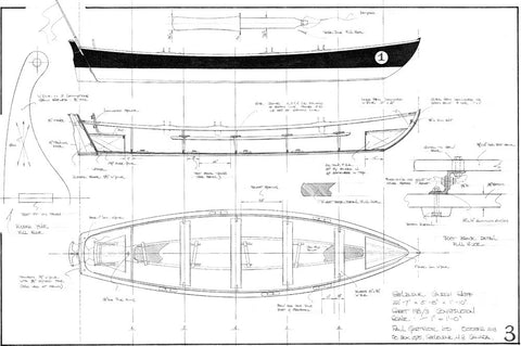22ft Shelburne Church Skiff, Design #198