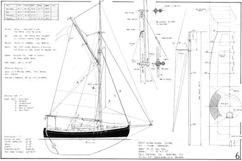 24ft Double Ended Cutter HANNAH II, Design #199