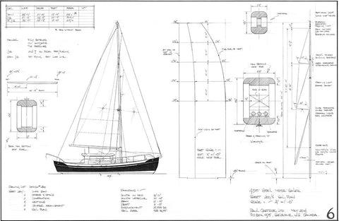 43ft Steel Motor Sailer Design #200