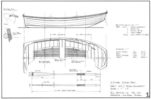 2.45 metre and 3.05 metre Clinker Pram Dinghies  Design #206 & 206A