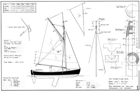 16ft Double Ended Skiff, Design # 208
